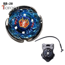 TOFOCO New Movie Anime Spinning Fight BB28 Green Pegasus 4D Metal Beyblade Fusion with Launcher Warrior Toys For Kid