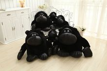free shipping black Orangutan plush toy throw pillow ,Christmas gift h208(China)