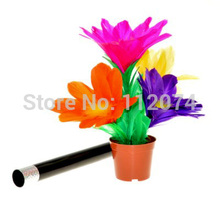 Appearing Flower In Pot From Wand /Stick to Flower (Large size) Best for Stage Perform - Magic Tricks,Comedy,Mentalism