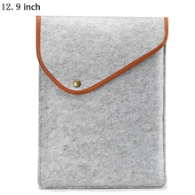 Traveling Fashion Tablet Cover Ultra Thin Felt Sleeve Protective Full Body Cover Bag Case for iPad Pro 12.9 inch
