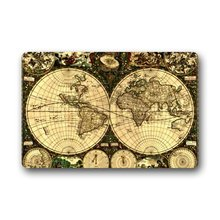 CHARMHOME Custom Decorative Door Mat Old World Map Machine-wahable Indoor Outdoor Doormat