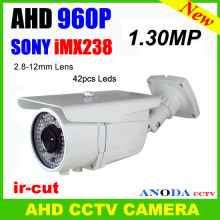 Outdoor motion sensor night vision Sony imx238+nextchip nvp2431h OSD menu AHD 960P 1.3MP ir CCTV Camera(China)