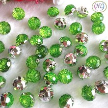 HL 40pcs Green Color Round Acrylic Buttons Apparel Sewing Supplies Garment Accessories DIY Crafts A732