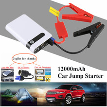 2017 Starting Device 12000mAh Mini Car Jump Starter Power Bank 12V Diesel Petrol Car Charger For Car Battery Booster Buster LED