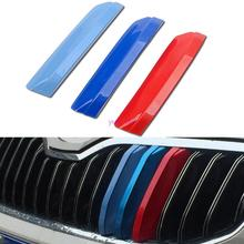 3D Car Styling Front Grille Trim Sport Strips Cover Motorsport Power Sticker For Skoda Octavia A7 A 7 2015 2016 2017