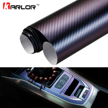 10*100cm Chameleon 3D Carbon Fiber Vinyl Film Wrap Foil Auto Car Truck Body Decoration Sticker Decal Motorcycle Car Styling(China)