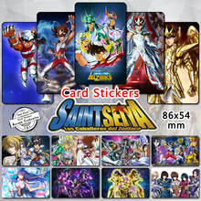 105pcs Saint Seiya Series Card Stickers Gold Saints Mu Saga Soldiers Soul of Gold EX Classic Anime Sticker Fans Collections Gift