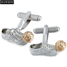 HAWSON Football Cuff link Rose Gold Color World Cup Football Match Souvenir For Kids And Fans(China)