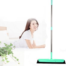 Green Mop Floor Squeegee with Stainless Steel Handle Removal of Water Hair and Dust Household Cleaning Tool Window Cleanner(China)