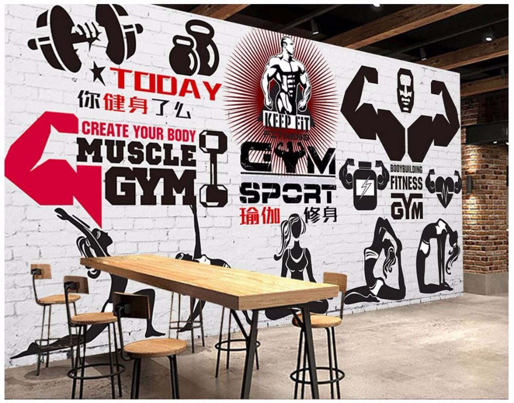 3d Photo Wallpaper Custom 3d Wall Murals Wallpaper Gym Murals