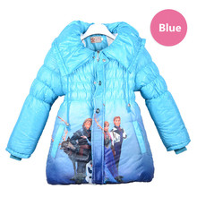 Ice And Snow Country Cotton-Padded Clothes Hight quality Coral fleece winter jackets coat extra thick Children's winter clothes(China)