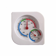 Easy to use A7 Gourd Shaped Indoor Mini Desk Thermometer Wet Hygrometer White for family