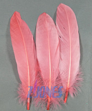 Wholesale 100pcs/lot!13-18cm long Coral Goose Feathers,Hat Trimming,Feathers for Millinery,Fascinators&Crafts