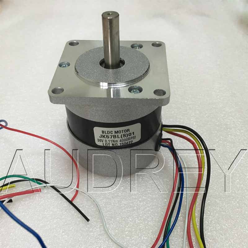 57BLDCS Brushless DC Motor 36V 4000rpm 46W 6.8A Square motor end cover Circle the fuselage Hall feedback 3 phase Commutator <br>