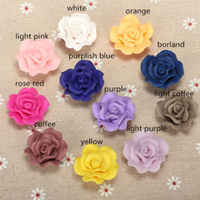 8pc/lots 30mm Polymer Clay Sweet Rose Flower Beads For Handmade Curtain Earrings Necklace Ring Jewelry Crafts Ornament Accessory
