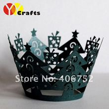 "New design! Hot sale!wedding fancy""Christmas tree""cupcake wrappers from china in all color for wholesale and retail"