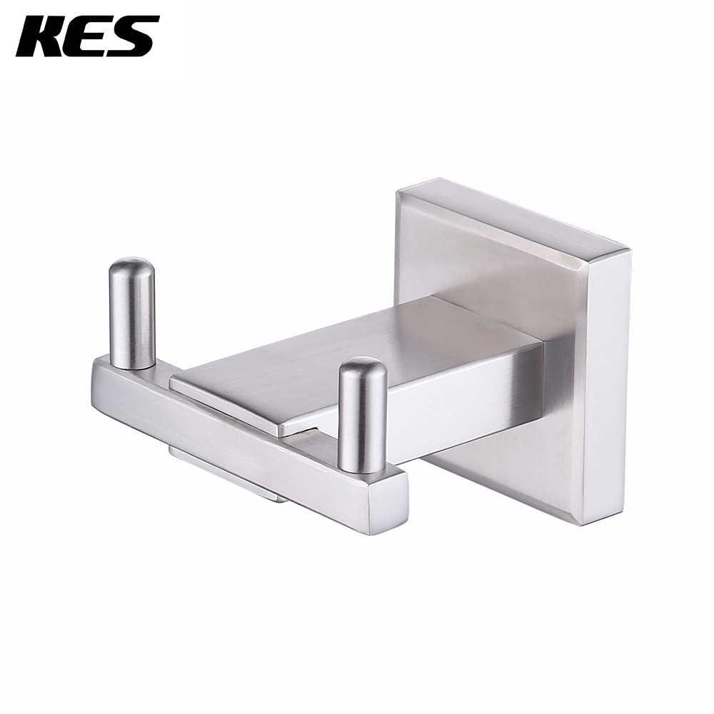 Brushed SUS304 Stainless Steel Modern Bathroom Single Coat Robe Hook Wall Mount