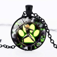 2017 Hot Miraculous Ladybird Necklace Metal Circle Animal Black Cat and Ladybug Anime Jewelry pendant for Children's toys Girls(China)