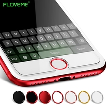 FLOVEME 2pcs/lot Touch ID Sticker Case Keypad Keycap Protector for IPhone 7 6 6s 5 Stickers Unlock Home Button Touch Key(China)