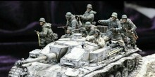 classic 1/35 scale WW2 German Armored Soldier Charge 8 people miniatures WWII Resin Model Kit figure Free Shipping