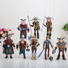 8pcs/set 10-13cm How to Train Your Dragon 2 Figurines PVC Action Figures Classic Toys Kids Gift opp bag