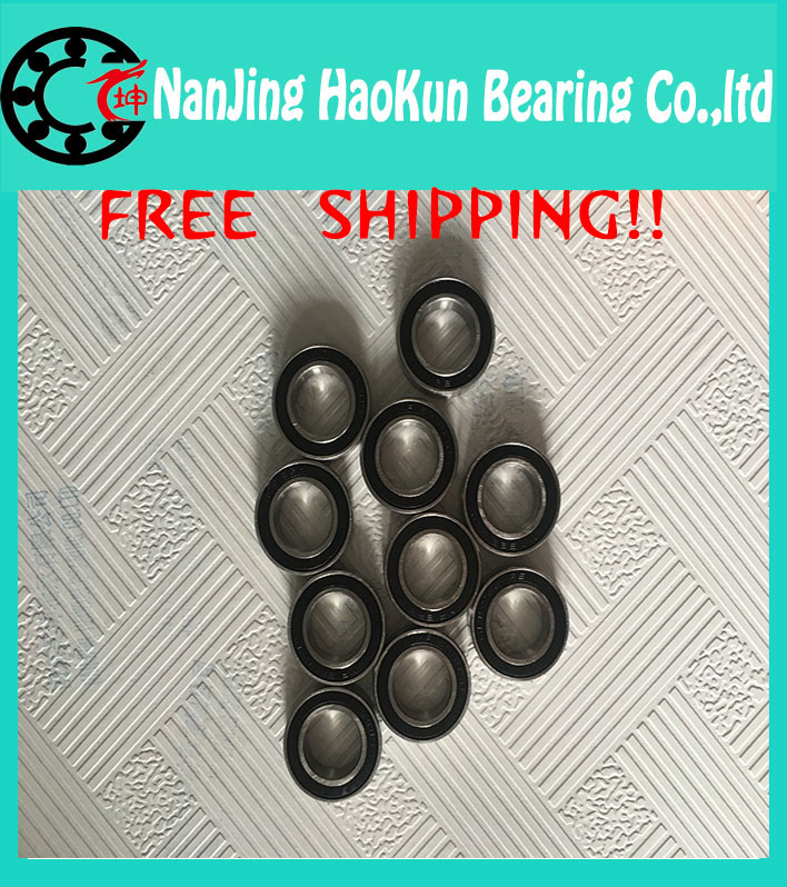 Free Shipping For ZIP/REYNOLDS/BONTRAGER/TUNE KONG 2PCS S61802 2RS  CB ABEC5 15X24X5mm  Stainless Steel Hybrid  Bearings<br><br>Aliexpress