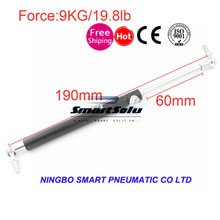 free shipping Auto Gas Spring Damper 60mm Stroke 9Kg 19.8lb Force Ball Gas Strut Shock Spring Lift Prop Automotive M8(China)