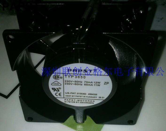 papst 3650 92*92*38 mm 9238 9038 230V 220V-240V 70/65mA 12/11W  all full metal aluminium cooling fan<br>