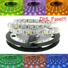 100M 5M/Roll RGBW RGBWW SMD 5050 LED strip Light DC12V LED Flexible Bar Tape Light strips RGB + White/WW light DHL Free!!!