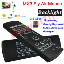Backlight Air Mouse Wireless Mini Keyboard with Backlight MX3 Universal Remote Control for Android TV Box IPTV Xbox Gamepad HTPC
