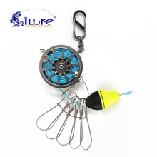2017 New iLure Fishing Lock Buckle With Reel Stainless Steel Live Fish Locks Belt Fishing Tackle Stringer Floats fishing reel(China)