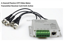 CCTV 4 Channel Passive Transmitter Video Balun BNC Female To UTP Rj45 Cat5
