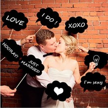 10 Pcs Mr Mrs Photo Booth Props Love DIY On A Stick Photography Wedding Decoration Party For Fun Favor Photo Booth Props