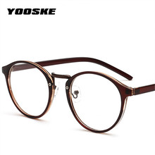 Optical Glasses Frame Glasses With Clear Glass Brand Round Men Women Clear Fashion Transparent Glasses Women's Frames