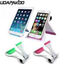 Udapakoo Desk Phone Holder Universal Mobile Phone Stand For iPad iPhone Sony Nokia HTC Cellphone And Tablet Stand