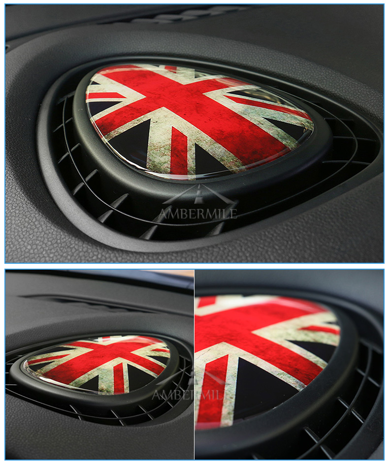 3D Crystal Epoxy Car Console Air Outlet Vent Cover Sticker for Mini Cooper JCW One F56 F55 F54 Accessories Car Styling (9)