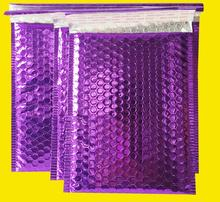 29*23cm Large Purple Bubble Mailers Padded Envelopes Mailing Bags aluminum foil Mailer Bag metallic shipping mailer padded bag