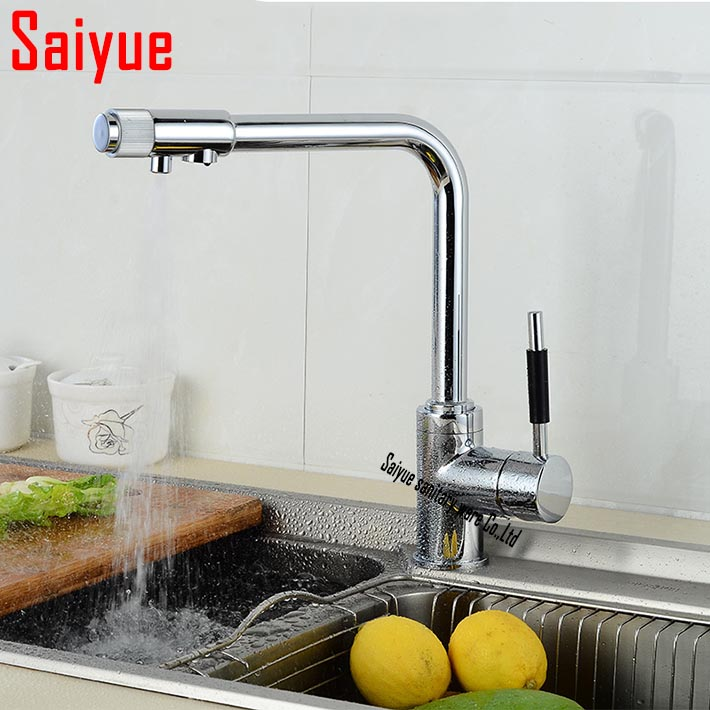 Retail &amp; Wholesale brass kitchen faucet,multifunctional pure water faucet,drinking water  tap,kitchen sink water purifier mixer<br><br>Aliexpress