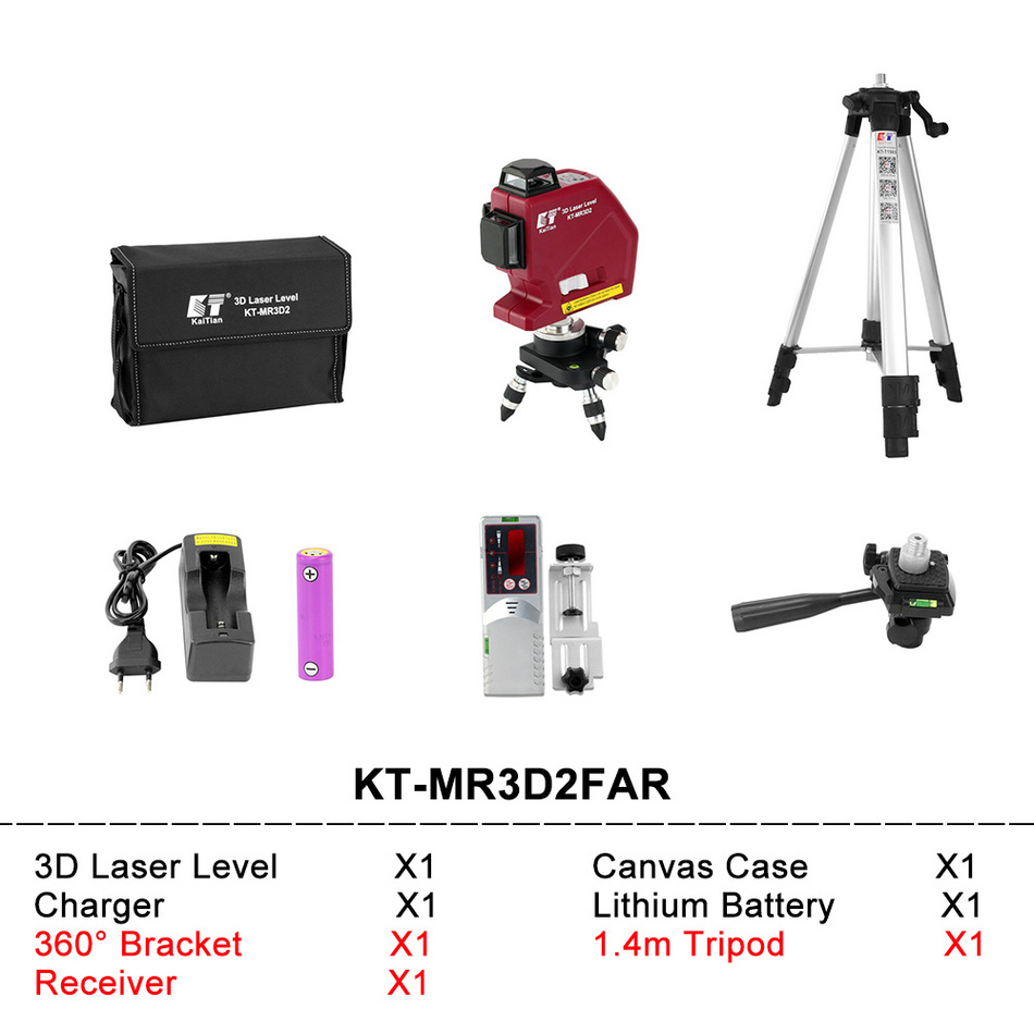 Kaitian Laser Level MR3D2FAR SET