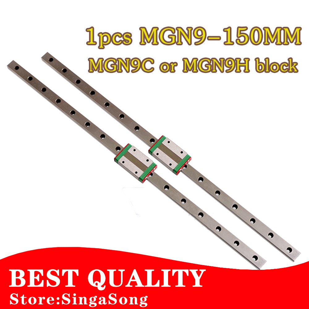 9mm Linear Guide MGN9 L= 150mm linear rail way + MGN9C or MGN9H Long linear carriage for CNC X Y Z Axis<br><br>Aliexpress