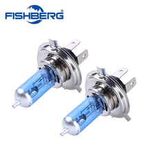 2x Car Halogen Xenon Light Bulb High Low Beam H4 12V 60/55W P43T 9003 Super Xenon White 6000K Headlight Lamp FISHBERG