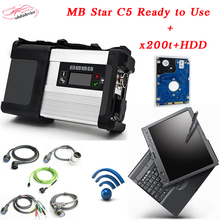 Best Quality MB Star c5 with 2017.9 newest HDD software mode in x200 laptop sd connect c5 Auto scanner DHL Free Shipping