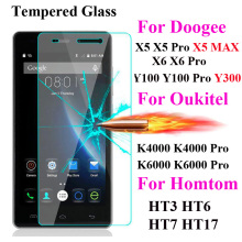 Buy Screen Protector Film Tempered Glass DOOGEE X5 Max X5 X6 Pro Y100 T6 Oukitel K4000 K6000 K10000 Homtom Ht3 Ht6 Ht7 Pro Ht17 for $1.04 in AliExpress store