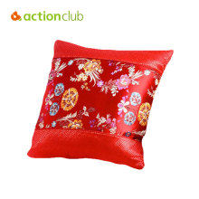 Actionclub Ancient China Silk Blanket Quilt Convenient Pillow Throw Pillow Travel Nap Multifunctional Red Yellow Cushions