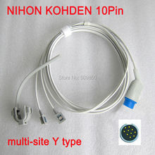 Compatible nihon kohden 10pin multi site y model spo2 sensor pulse probe