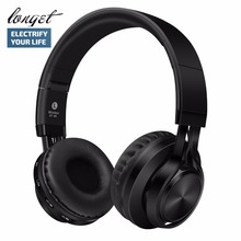 LONGET BT-06 Bluetooth Headphones Over-ear Foldable Wireless+Wired Connectivity Bluetooth 4.0 Hi-fi Stereo Headset Support FM(China)