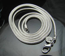 CN2 2mm snake chain necklace,Wholesale lots Fashion jewelry 925 sterling silver jewelry necklaces