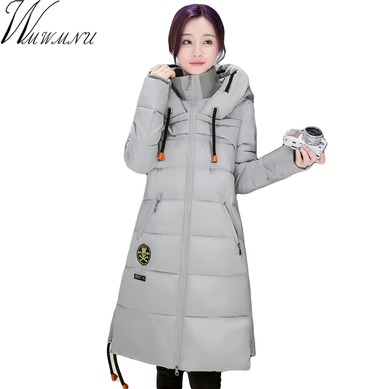 Wmwmnu 2017 Winter Womens cotton padded Jacket And Coat For Women High Quality long Parka gray/black/redÎäåæäà è àêñåññóàðû<br><br>