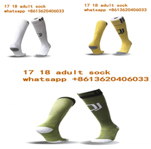 adult Thai quality Juventuses socks 2017 2018 home white away yellow 3RD green Man , S soccer football calcetines chaussettes(China)
