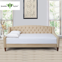 Jennifer Taylor Home, Sofa Bed, Hand Tufted, Hand Painted and Hand Rub Finished Wooden Legs 65000-584/859/865(China)